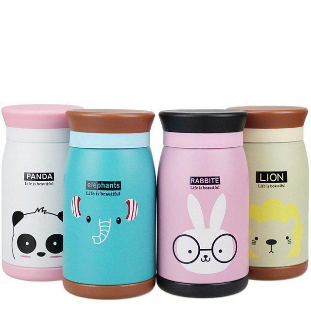 6,32€ - Cartoon Thermos Cup Bottle Stainless Steel Thermocup Vacuum Thermal Mug 260ml/350ml Funny Gift - Ocean Simplicity Home Decor