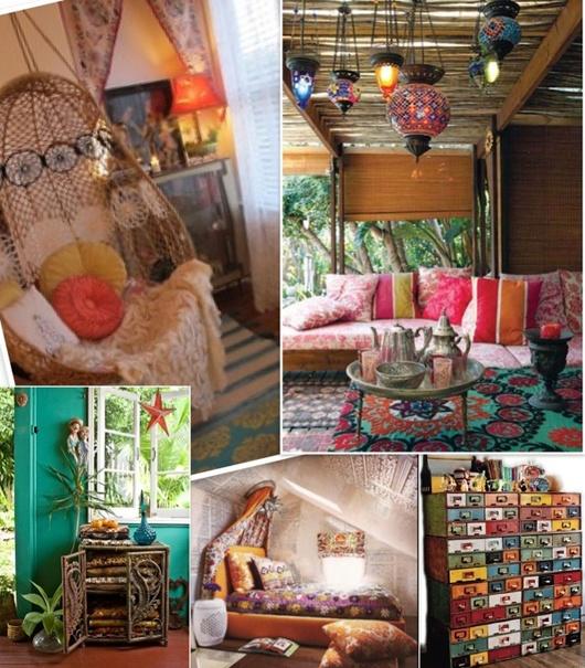 Hippie chic house decor