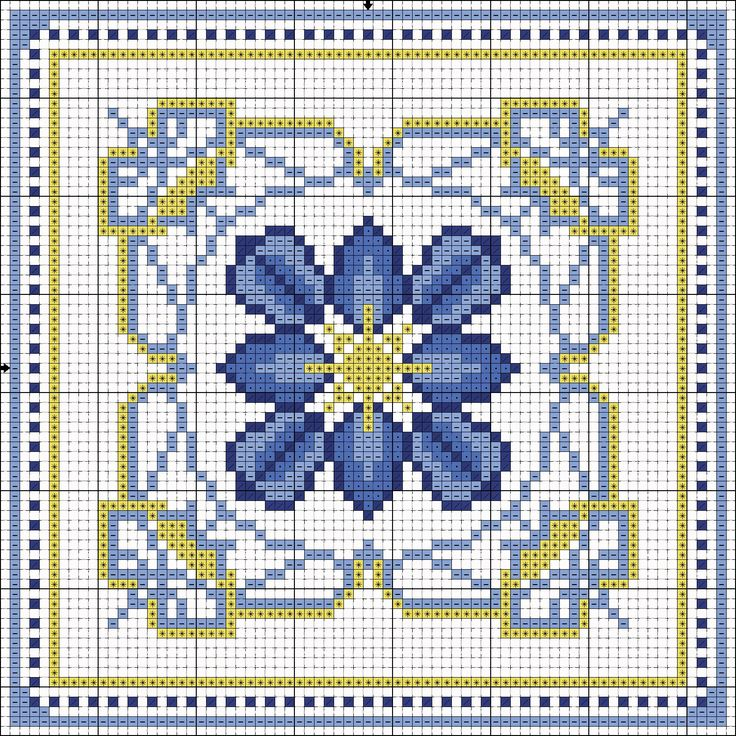 Biscornu pattern ... no color chart available, just use pattern chart as your color guide.. or choose your own colors...