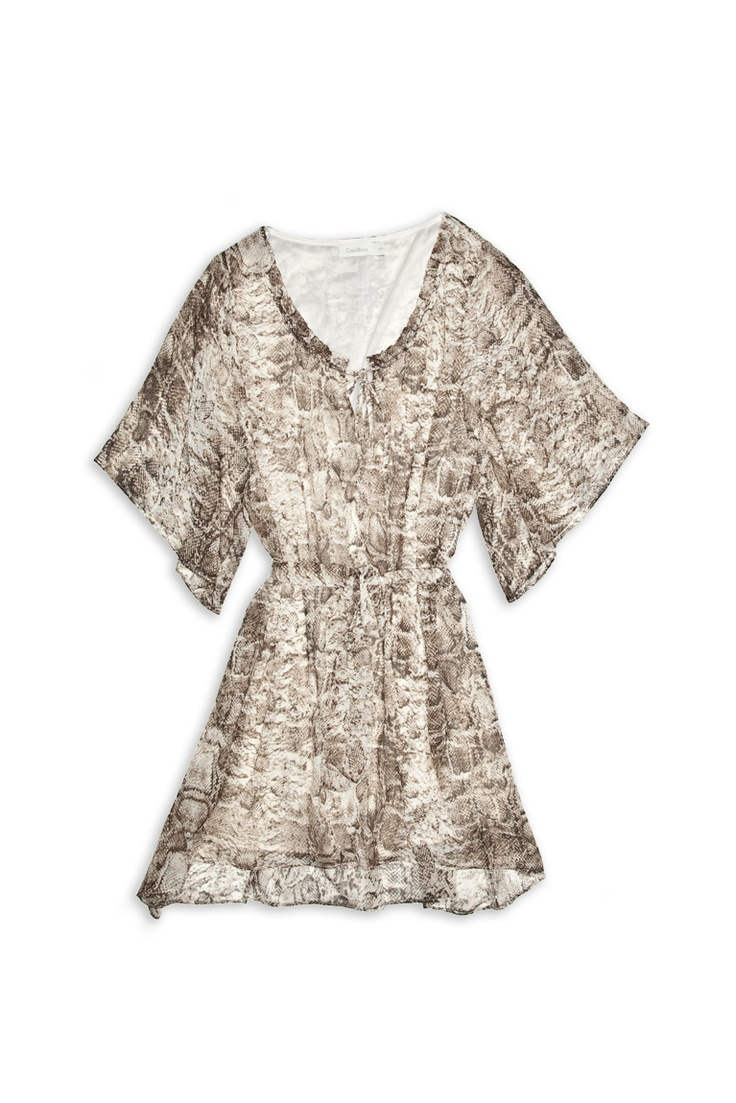 Python Chiffon print belt dress #CostaBlanca $29.50