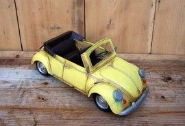Macheta auto retro - VW galben