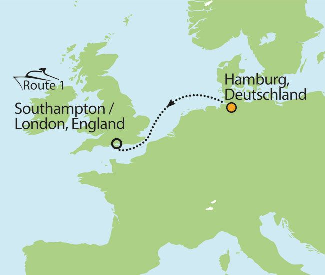 Nordseekreuzfahrt mit Städtetrip London - ab 499,- inkl Flug