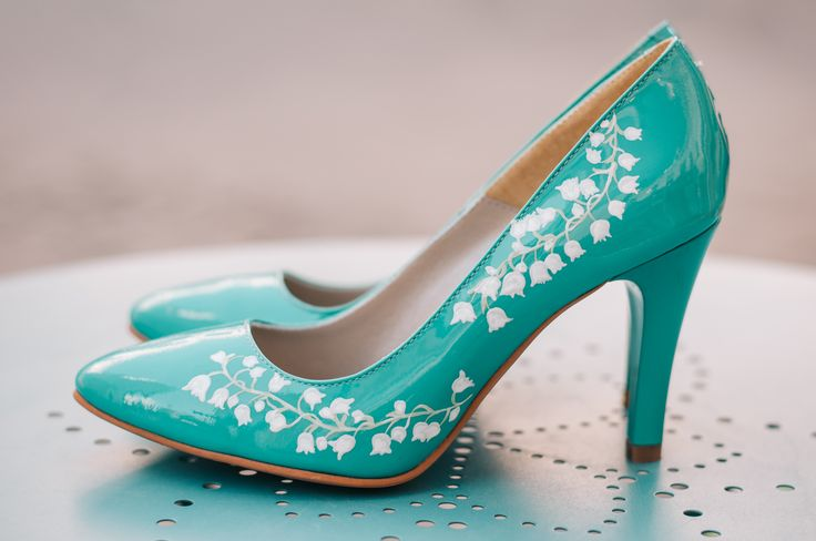 Hand painted stiletto by Diane Marie