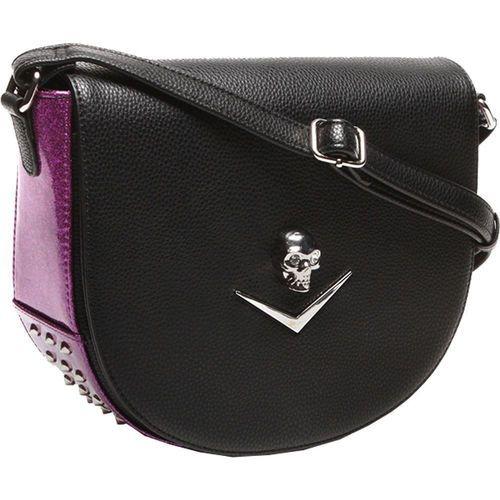 Lux De Ville Elvira Saddle Matte Electric Purple Sparkle Crossbody Bag ESS576BEP