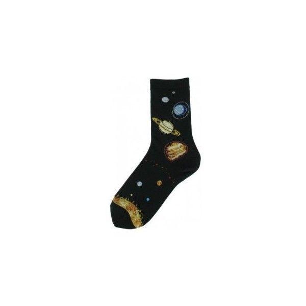 Solar System Socks ($5.99) ❤ liked on Polyvore featuring intimates, hosiery, socks, accessories, socks/tights, shoes, mens socks, hanes hosiery, sports socks and sport socks