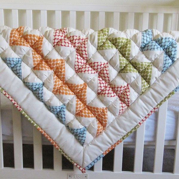 so so cute.: Quilting Ideas, Pattern, A Quilting Baby, Puffy Quilts, Sewing Ideas, Blankets, Chevron Baby Quilts, Craft Ideas