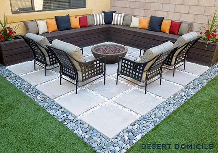 45 Awesome Small Patio on Budget Design Ideas https://decomg.com/45-awesome-small-patio-budget-design-ideas/