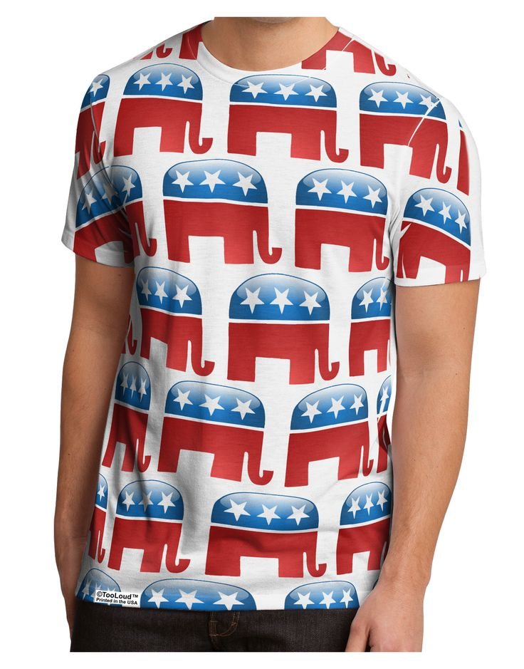 TooLoud Republican Symbol All Over Men's Sub Tee Single Side All Over Print