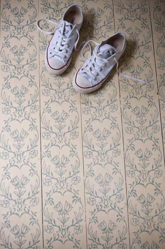 Tapet patterned paint roller from The by patternedpaintroller.  I like this idea for the floor.