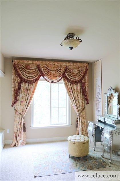 Pink Floral Swags And Jabots Valance Curtain Drapes Http