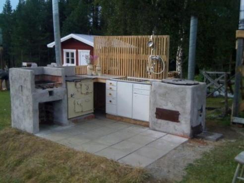 Utomhuskök hos Fahlstedt/Bolmhagen