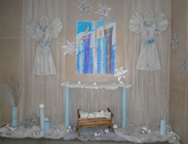 Vánoční výzdoba vchodu školy 2016