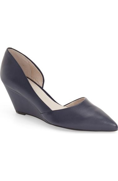 Kenneth Cole New York 'Ellis' Half d'Orsay Wedge Pump (Women) available at #Nordstrom
