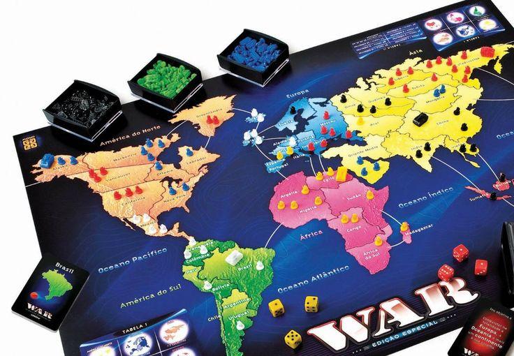 """Jogo de tabuleiro lançado no Brasil foi baseado no norte-americano """"Risk""""."""