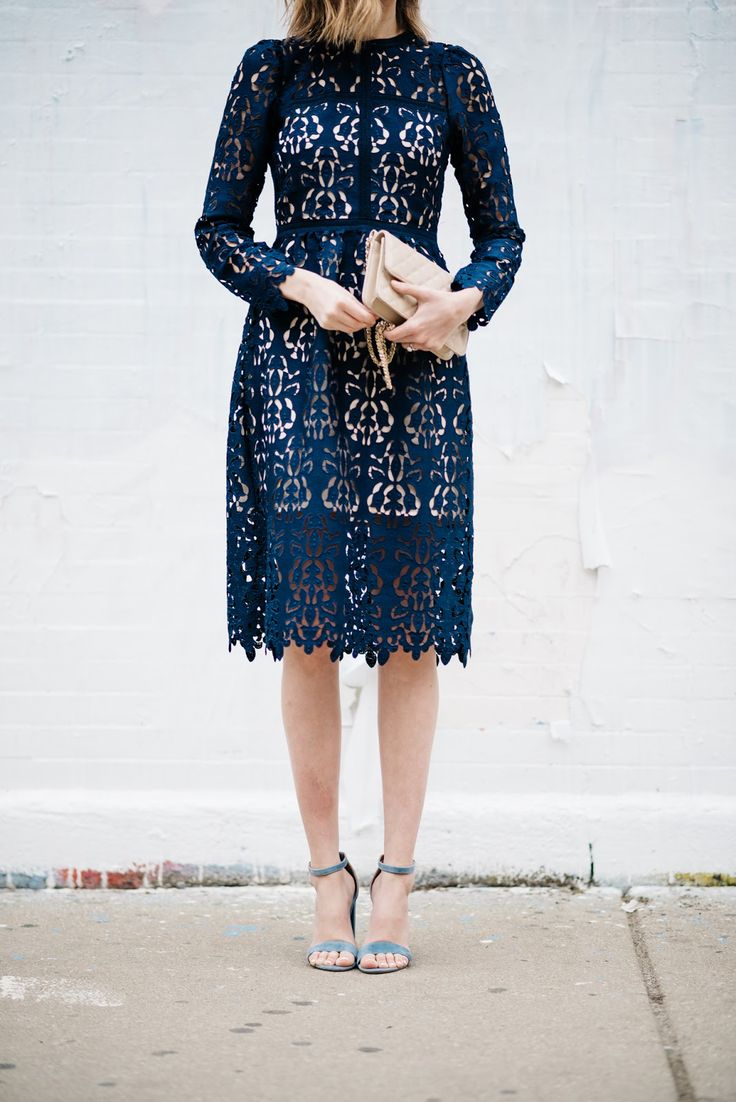 This dress is polished enough for the office but glamorous enough for a night out. LOVE.