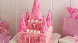 Image result for simple princess castle cake