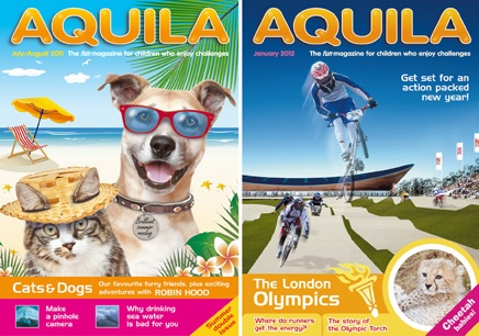 Challenge and Inspire your kids with AQUILA Magazine for only £15