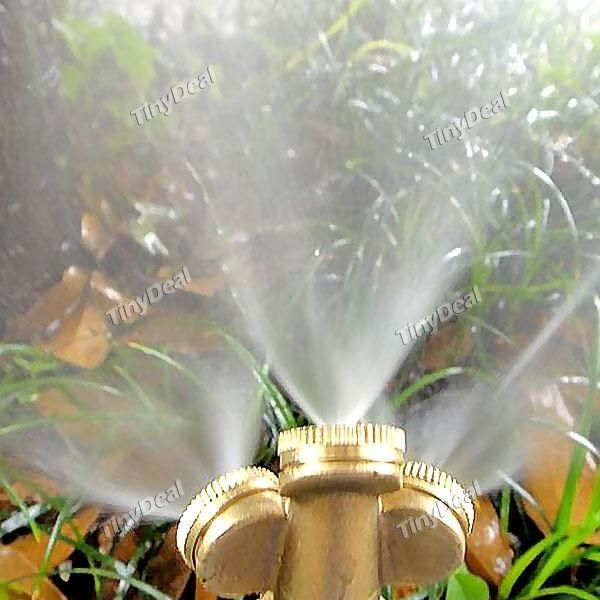 3 Heads Brass Agricultural Mist Spray Nozzle Sprinkler Garden Watering Roof Cooling Lawn Irrigation System HHI-394236