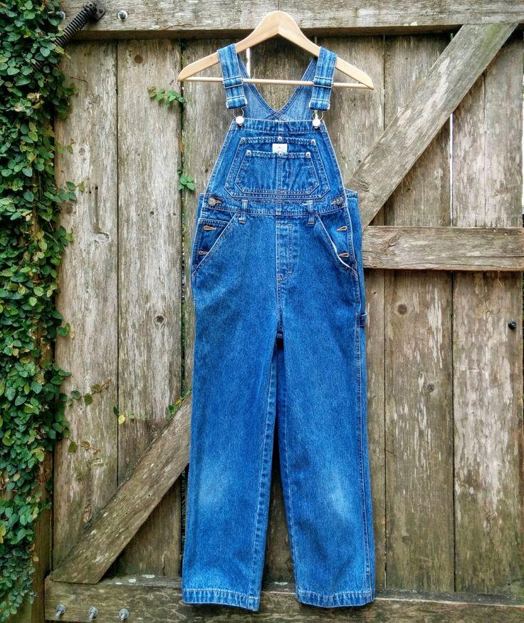 "Vintage Calvin Klein Bib Overalls/Stone Wash Bib Overalls/90's Jean Bib Overalls/Size M/15""Waist/24""Inseam/48""Long/*FREE GIFT WRAP* by aLaRoad on Etsy"