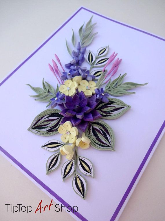 Homemade Birthday Quilling Card For Mom Grandma Godmother Paper Quilling Cards Paper Quilling Designs Quilling Designs