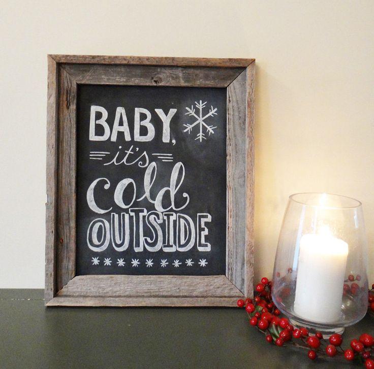 Holiday Chalkboard Sign - Chalkboard Art - via Etsy.