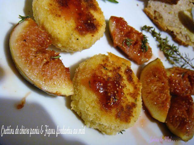 Épices & moi - Crottins de chèvre panés & figues fondantes au miel