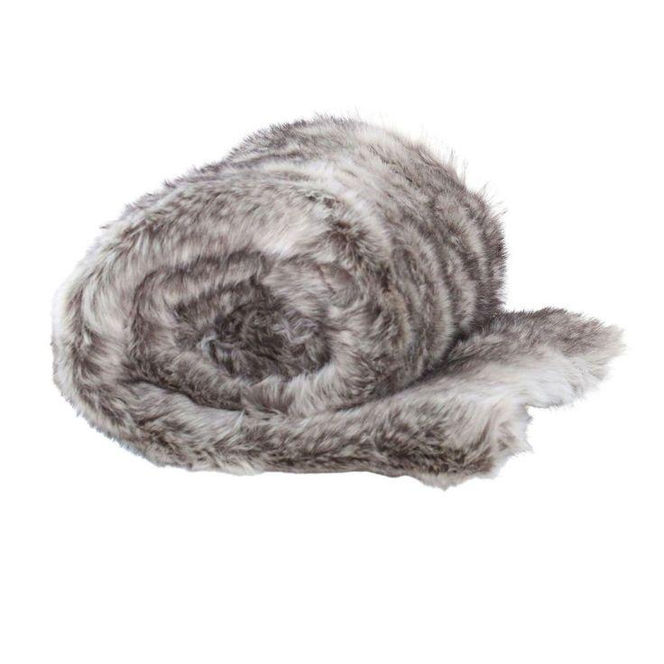 Husky Faux Fur Throw