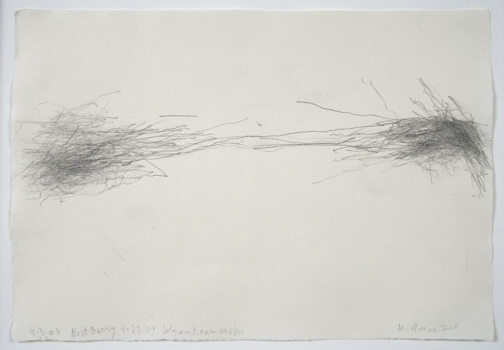 William Anastasi, Untitled (Subway Drawing), 2009 Graphite on paper, 8 x 11 1/2 inches (20.3 x 29.2 cm)