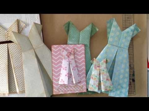 how to fold a simple paper dress... for a card, scrapbook page, journal cover, etc., etc., etc...