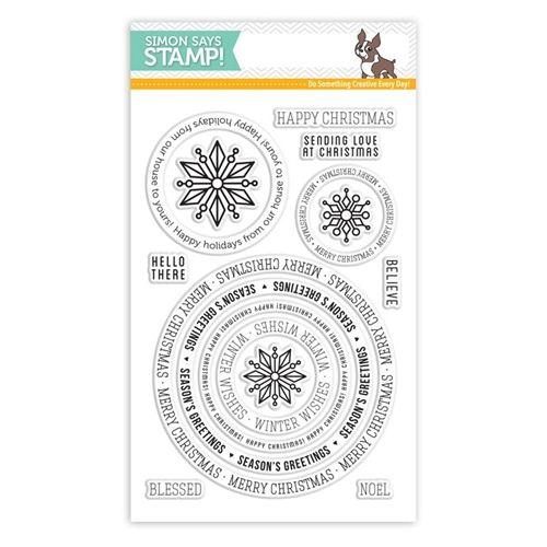 SIMON SAYS STAMPS Simon Says Clear Stamps CIRCLE SAYINGS HOLIDAY sss101551 Create Joy