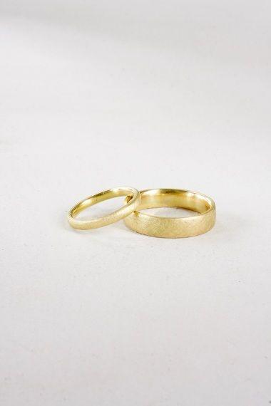 Letizia Plankensteiner – Schmuckunikate, Eheringe Gold eismatt