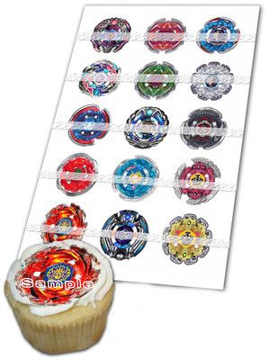 8 best bey blade birthday party images on pinterest for Anime beyblade cake topper decoration set