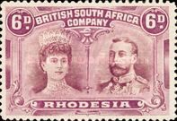 British South Africa Company, 11.11.1910, King George V., No.113, 6P lilac/brown. Stamped 16,46 USD. Unused 32,93 USD.
