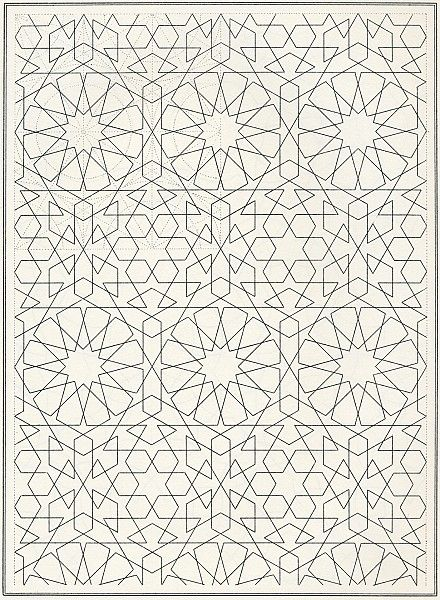 Islamic Pattern Coloring Book Page