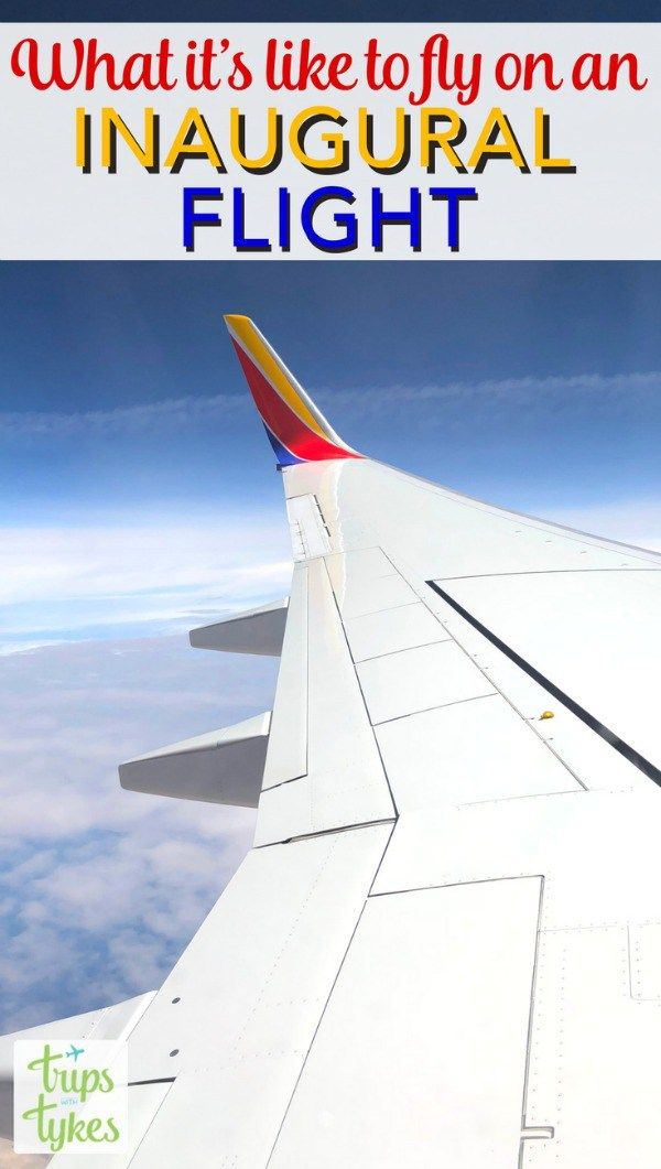 Taking An Inaugural Flight With Southwest Airlines Air Travel