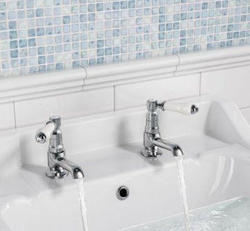 Kingswood Traditional Basin Taps - Hot and Cold [PT-TB2134] - £32.99 : Platinum Taps & Bathrooms