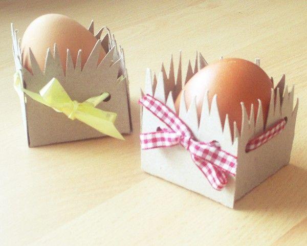 Schneller Osterkorb aus Pappe