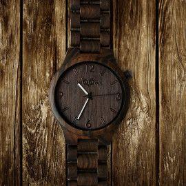 Wooden Watch Orloy Santal Black