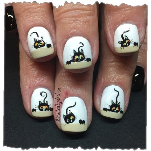 Halloween Kitties  by nailedbydeshea from Nail Art Gallery