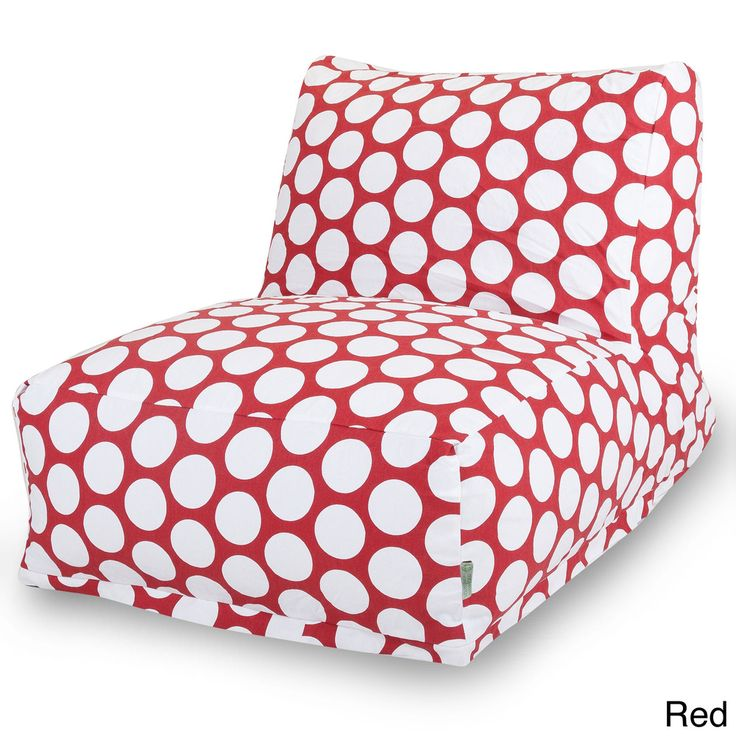 Large Red Polka Dot Bean Bag Chair Lounger