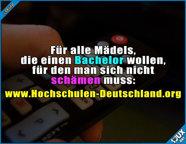 Viel besser als der von RTL :)  Sprüche  #Hochschule #Bachelor #lustigeSprüche #sowahr #Humor #RTL