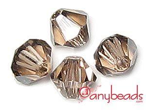 Austrian Swarovski Crystal Elements 5301/5328 Xilion Bead Bicones 4mm - Light Peach Satin