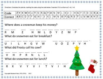 WINTER PACK hole punch words, winter jokes, and listening