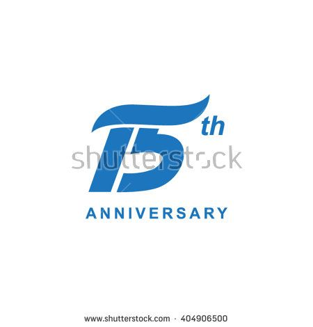 15 anniversary wave logo blue
