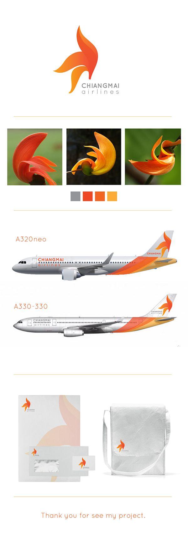 logo design : Chiangmai airlines on Behance #toonzidesign #logo #thailand…