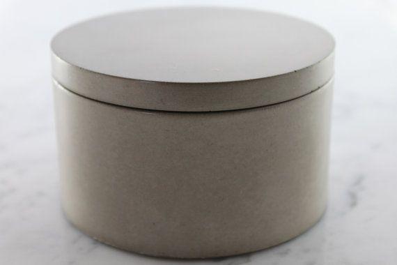 Natural Gray Concrete Salt Cellar. Grey Salt by Culinarium on Etsy, $42.00