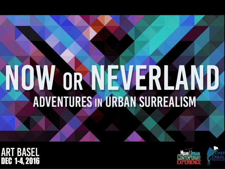 Now Or Neverland  in #Miami  #exhibition #eventmarketing