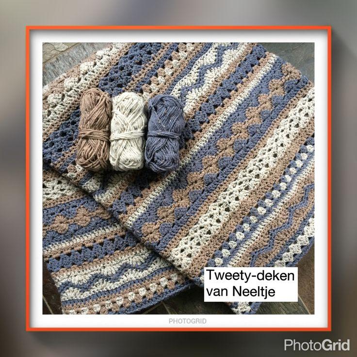 Patroon van mijn Tweety-deken is te vinden bij haakgroep: Cal en dekens, maar dan anders en meer