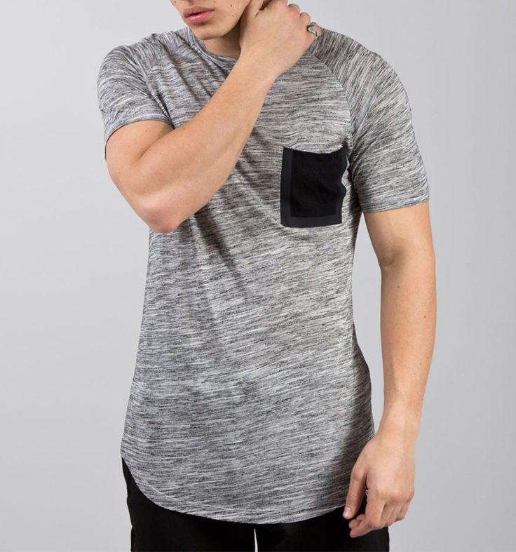Prendas de Vestir para hombre de Bolsillo camiseta Heather Gris camiseta