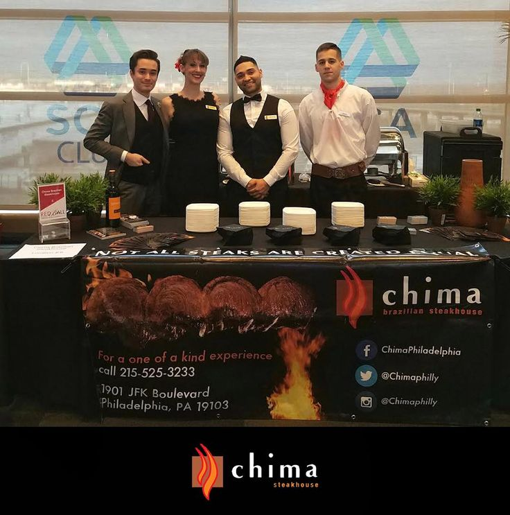 Last Saturday, Chima Steakhouse Philadelphia was part of the Red Cross's annual charity event: The Red Ball, held at Lincoln Financial Field Stadium! John Brady, our brand ambassador, Katie Hennessy, our sales & events manager, Vinicius Morais, our assistant general manager, and Diego, one of our Meat Chefs (gauchos), attended. We've served Brazilian pork sausage, grilled chicken, top sirloin, rice, and beans for over 1000 guests. The event was hosted/MC'd by Karen Rogers, news anchor for 6…